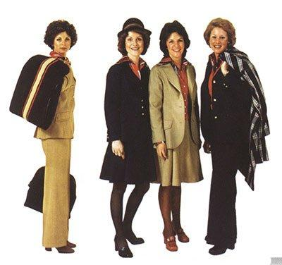 Alaska Airlines uniforms from the 1970s. Photo courtesy Alaska Airlines