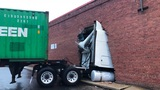 RUNAWAY TRUCK| Tractor Trailer crashes into building