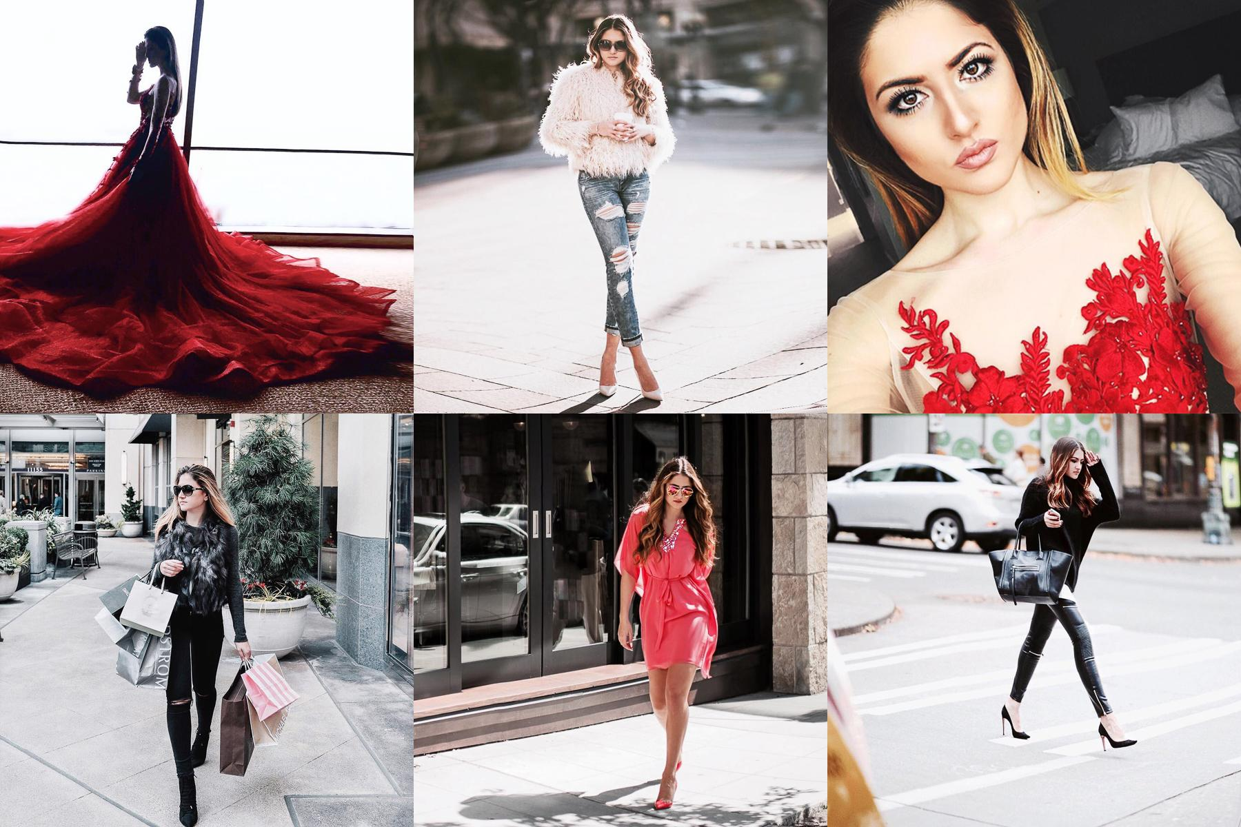 Gergana Ivanova's Instagram is filled with so many black and white images that we'll go out on a limb to guess that it's her favorite color. As well as a fashion blogger, she's a lifestyle editor, pre-law student and a model which makes sense because she always looks stunning in all her photos. (Images courtesy of @fashionismyfortee)