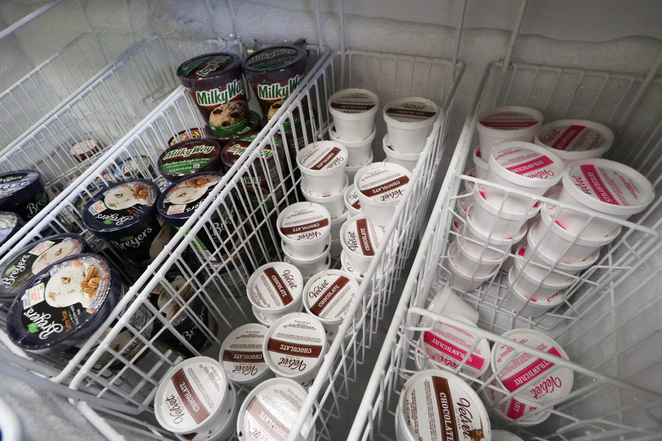 The store's ice cream cooler{ }/ Image: Ronny Salerno // Published: 4.25.19
