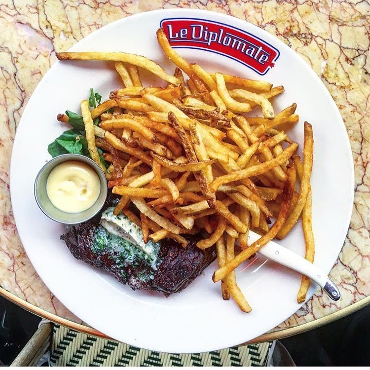 Steak Frites at Le Diplomate (Courtesy of Le diplomate)