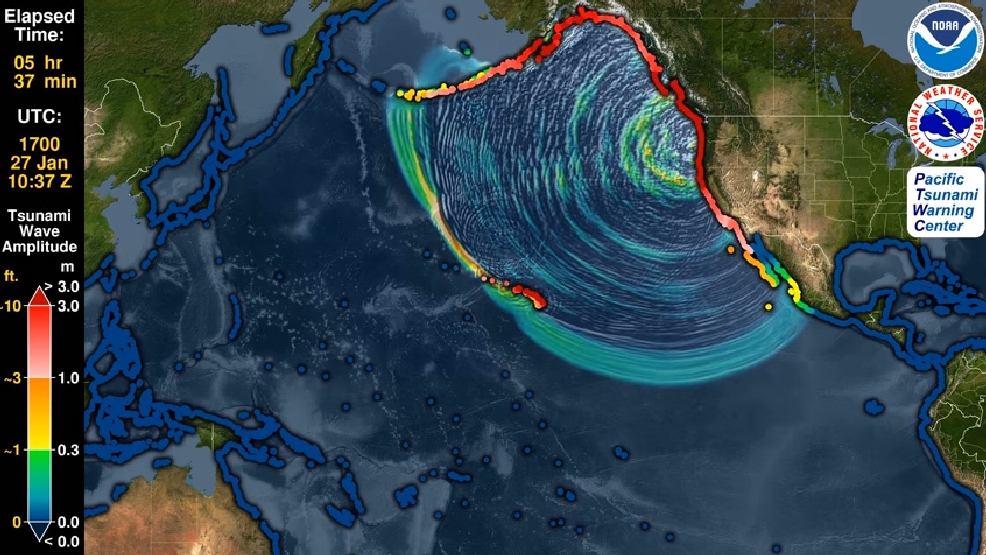 Watch: NOAA simulates great Pacific Coast tsunami of 1700