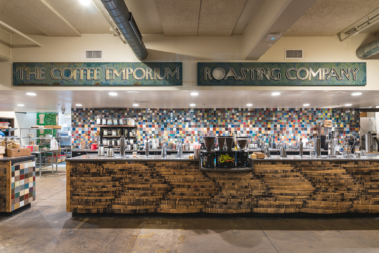 Coffee Emporium, the longest-running coffee house in Cincinnati, recently finished a facelift at both its Hyde Park and Over-the-Rhine locations. Pictured is the OTR shop, which originally opened in 2002. Inside, new tables and chairs are available while a completely redesigned coffee counter (now with two registers) offers food and drink. A colorful tile backsplash immediately draws the eye, and the kitchen, which had previously been right behind the counter, has been moved behind a wall. The owners spent $500,000 on the remodel of both Coffee Emporium locations. OTR ADDRESS: 110 E. Central Parkway (45202), HYDE PARK ADDRESS: 3316 Erie Avenue (45208) / Image: Phil Armstrong, Cincinnati Refined // Published: 7.21.18