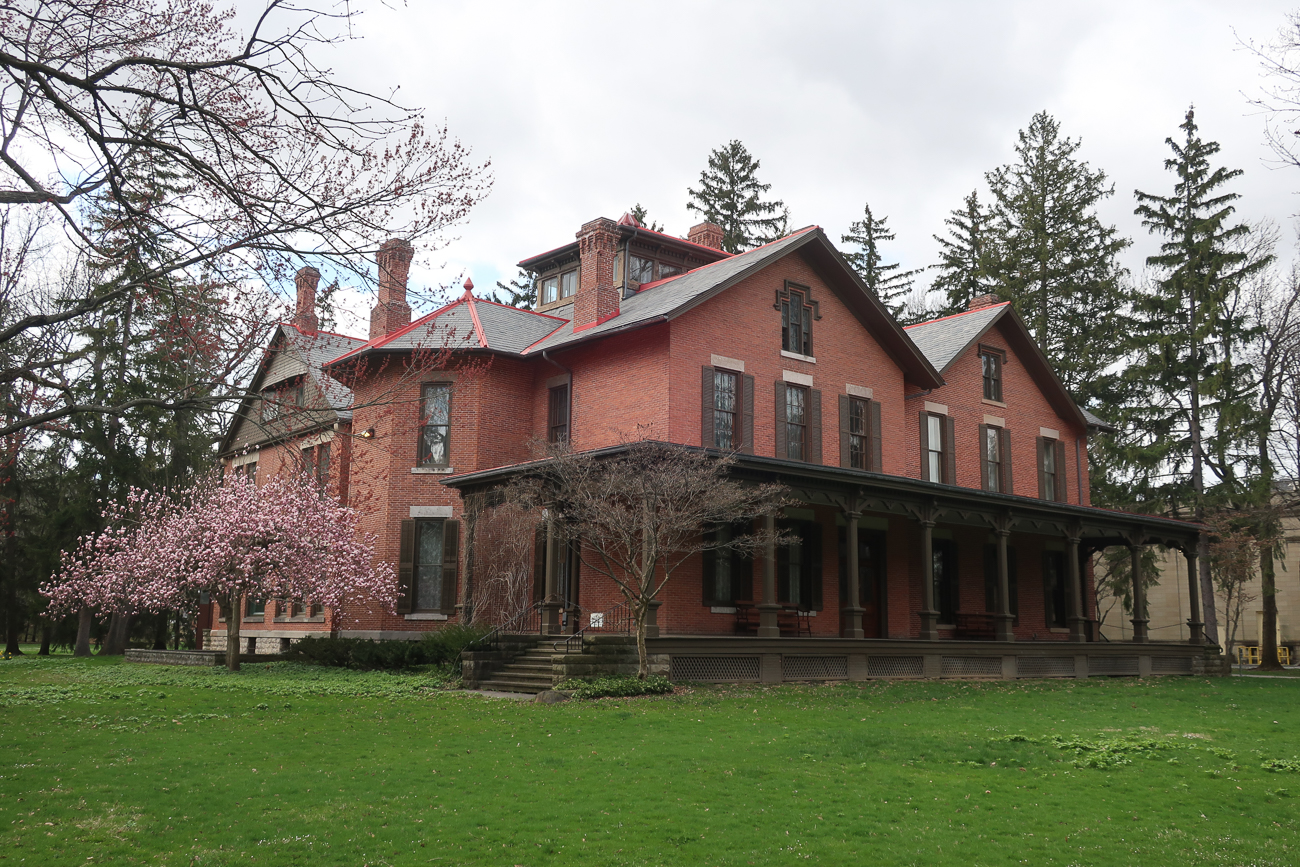 "In 1846, Rutherford B. Hayes inherited the wooded property before spending the next 30 years drawing up plans and remodeling both interior and exterior features. Hayes loved his home and estate and particularly enjoyed the wrap-around veranda, of which he was quoted saying, ""The best part of the present house is the veranda. But I would enlarge it. I want a veranda with a house attached!"" / Image: Rutherford B. Hayes Presidential Library & Museums // Published: 10.23.20"