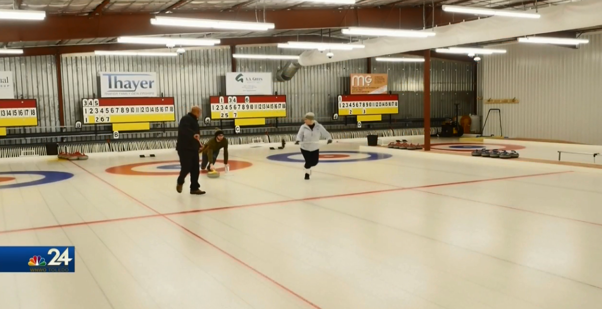 Chuck Stein lays out an impressive draw at the Black Swamp Curling Center (WNWO)<p></p>