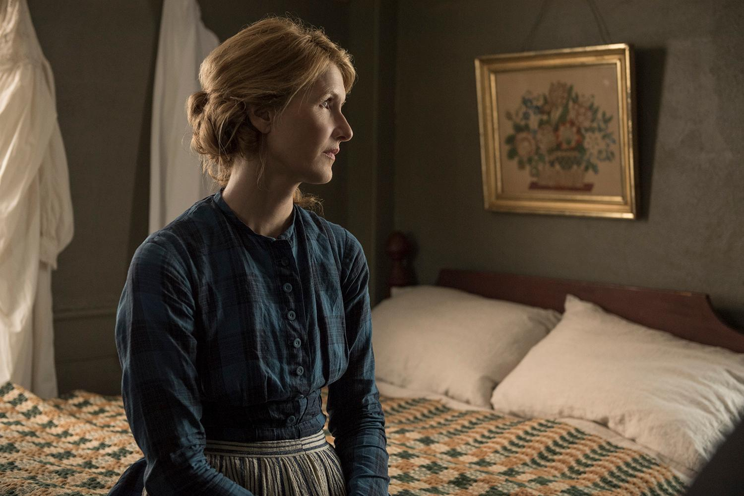 Laura Dern in Columbia Pictures' LITTLE WOMEN.{ }(Image: Wilson Webb / Sony Pictures)