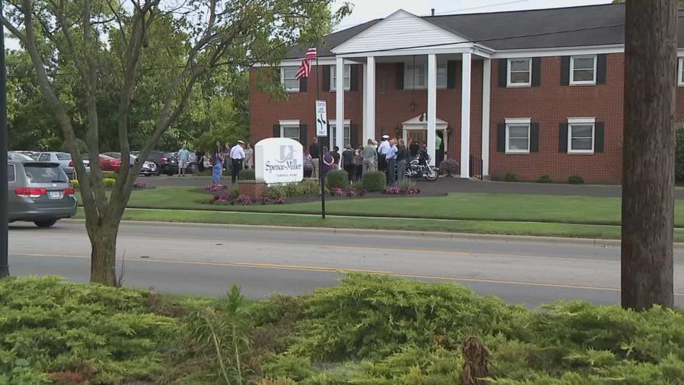 Members of the community stood in line outside a funeral home to pay their respects to Tyler Jarrell. (WSYX/WTTE)
