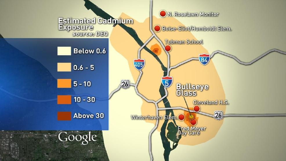 DEQ releases map of cadmium detected in Portlands air KATU