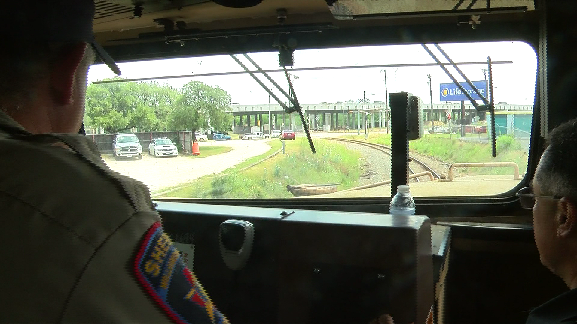 To crack down on drivers illegally crossing at railroad signals, Williamson County law enforcement rode along on a train to catch them in the act. (CBS Austin)