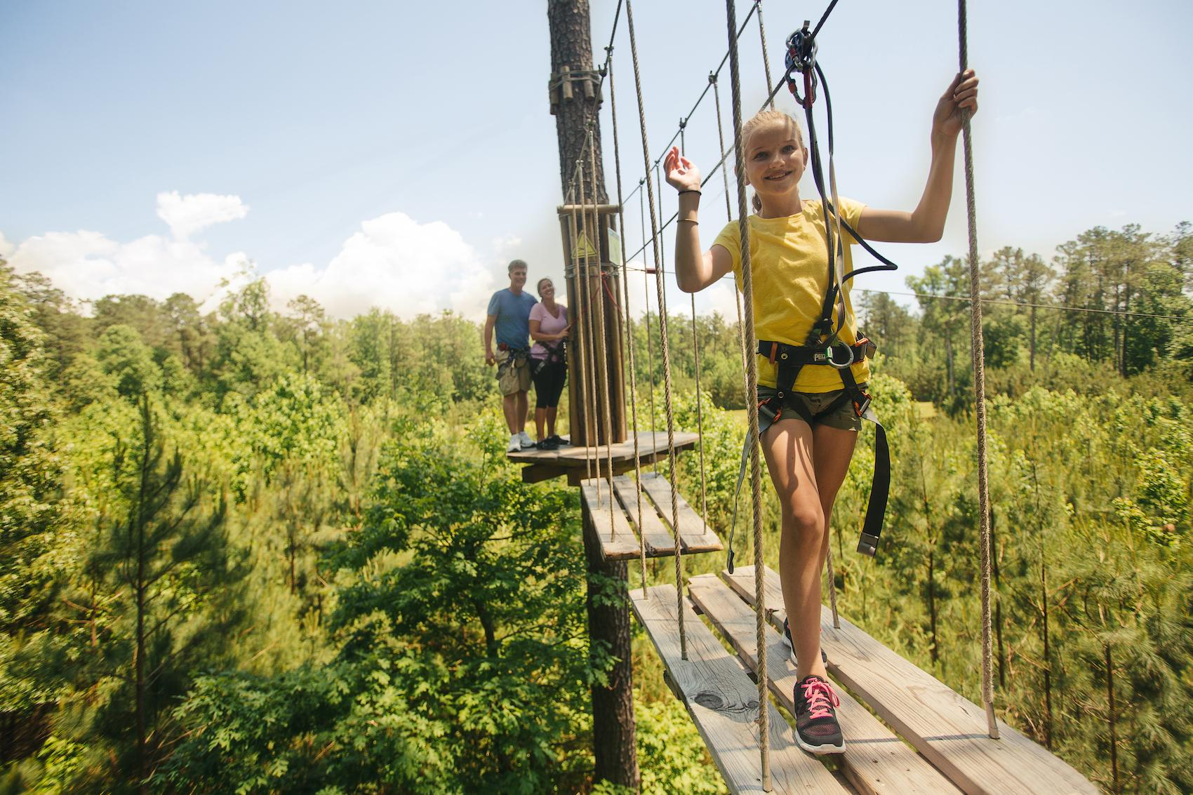 "Per the website: ""Go Ape is a 2-3 hour adventure through the forest canopy that takes you on a journey through suspended obstacles, Tarzan swings, and breathtaking zip lines."" There are 15 locations across the country, including ones in Indianapolis and Louisville. A 16th location will open in May 2017. / Image courtesy of Go Ape Adventures // Published: 4.21.17"