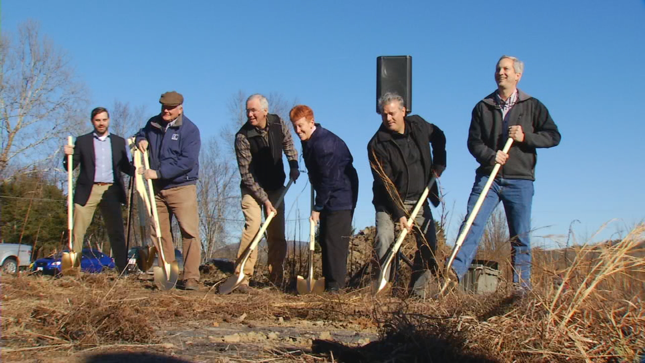 Officials broke ground Friday on a multimillion-dollar manufacturing facility in Brevard. The facility will be the new home of SylvanSport, a Brevard-based outdoor equipment company founded in 2004. (Photo credit: WLOS staff)