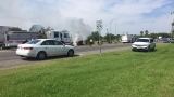 One killed in car accident in which vehicle began burning after struck from behind