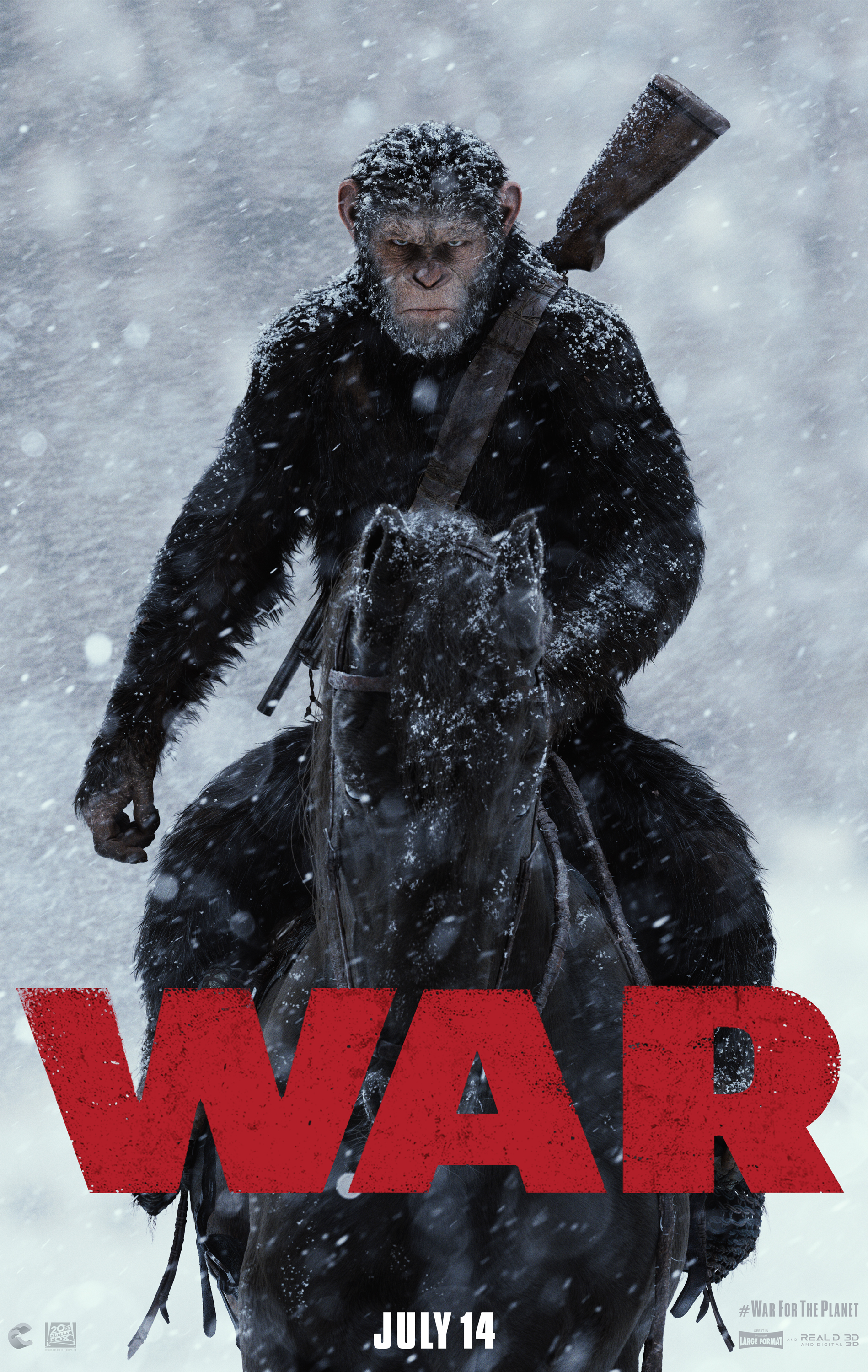 "Twentieth Century Fox's ""War for the Planet of the Apes."""