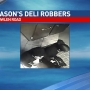 Surveillance pictures capture images of two men who robbed Jason's in west end