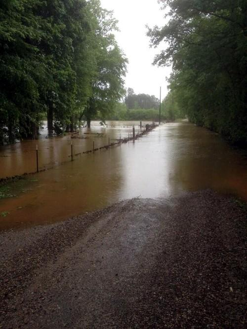 County road in Abel, Cleburne County... photo from @sjloveless
